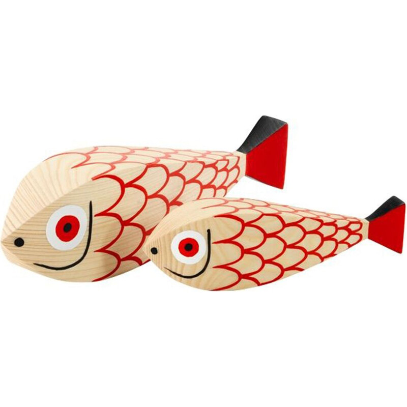 """""""Wooden Dolls Mother Fish & Child"""" by Alexander Girard pour VITRA."""