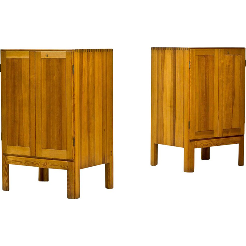 Set of 2 vintage cabinets for Karl Andersson & Söner in pine 1960