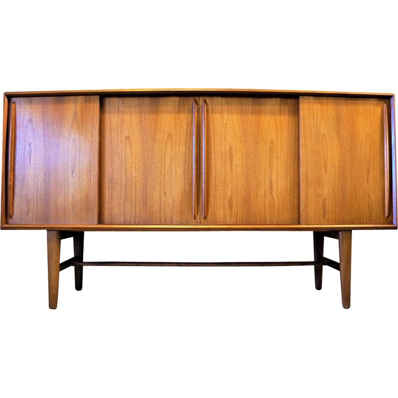 Vintage scandinavian sideboard for Hansen in teak and rosewood 1970