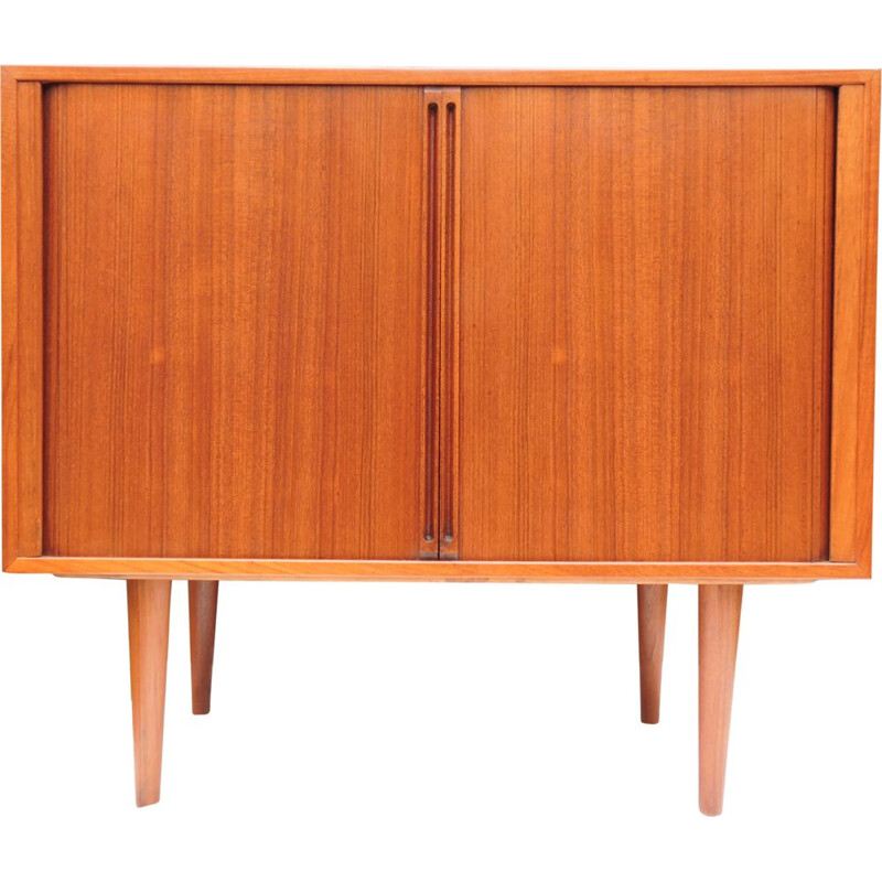 Vintage cabinet record player in teak by Kai Kristiansen for FM Møbler Denmark 1960s