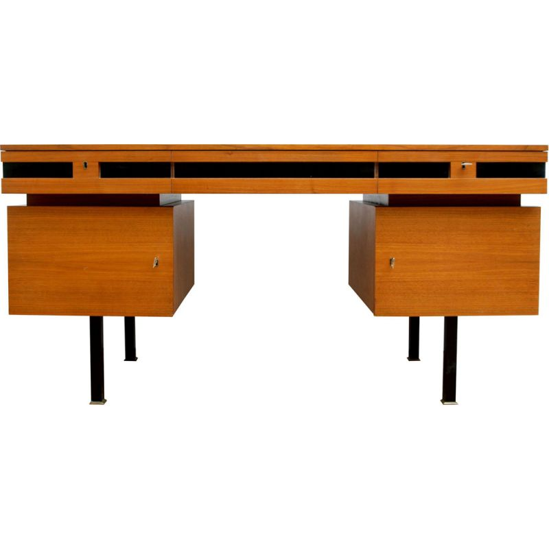 Vintage desk in walnut Germany 1960s