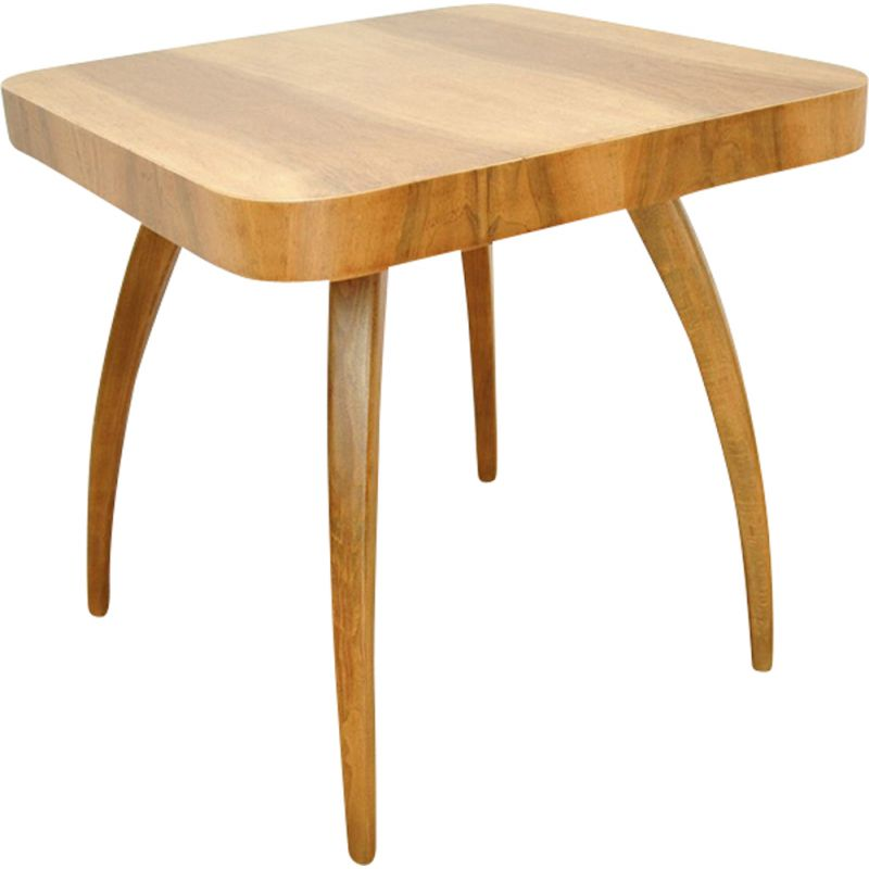 Vintage H259 coffee table for UP Závody in walnut and beechwood 1930