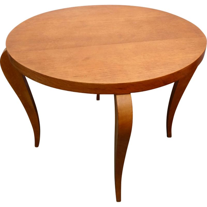 Vintage coffee round table in wood,1960