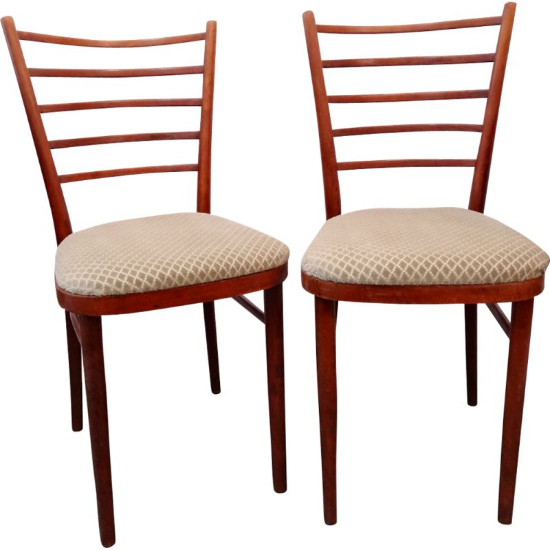 Vintage pair of scandinavian dining chairs,1960