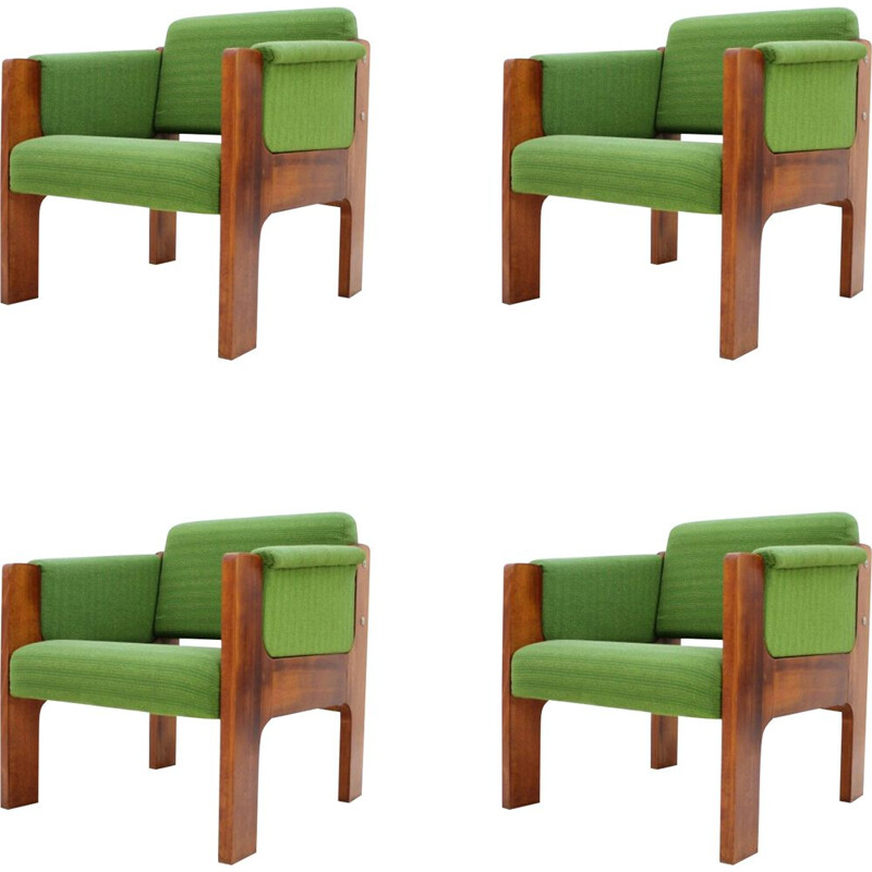 Set of 4 armchairs from the 70s