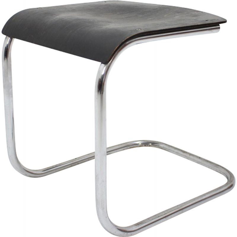 Vintage bauhaus stool in chrome by Mart Stam,1930