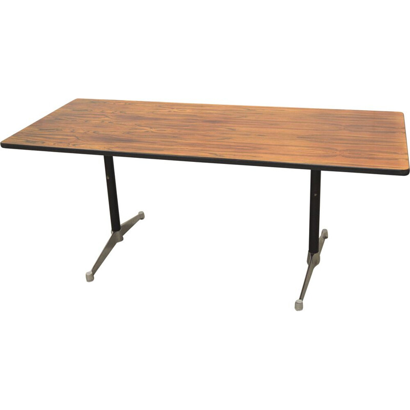 Vintage rosewood desk  by Charles Eames for Herman Miller,1960