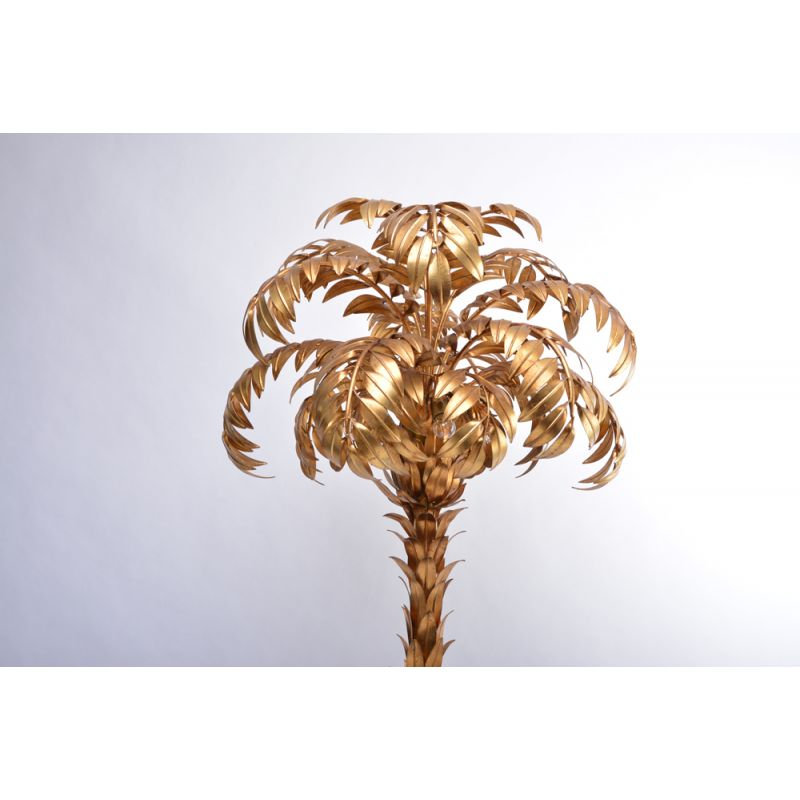 Vintage Floor Lamp Golden Palm Tree By Hans Kogl 1980s