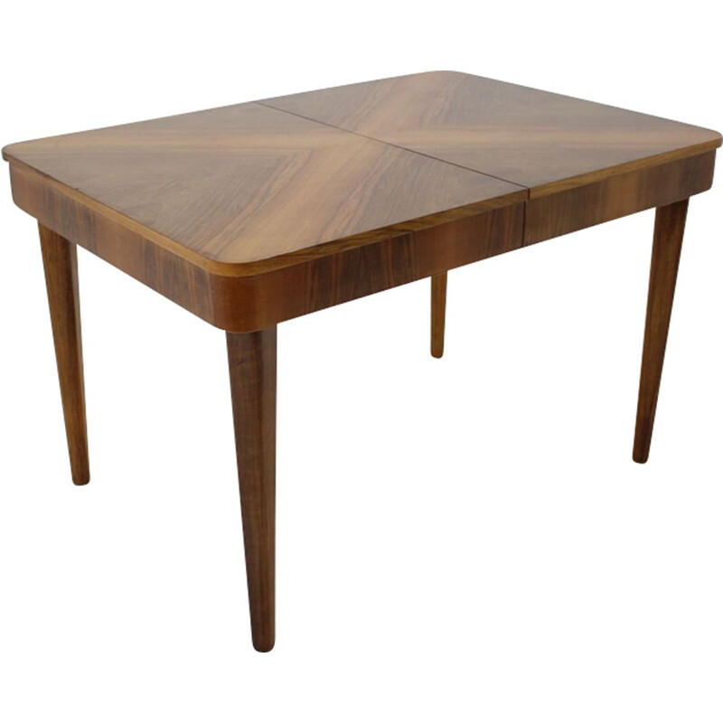 Vintage table for UP Zavody in walnut 1960