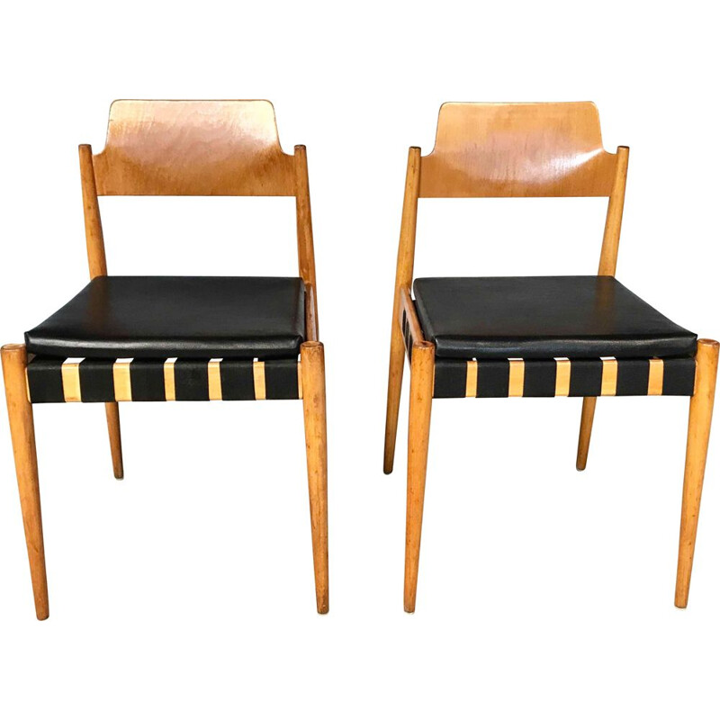 Set of 2 vintage SE 119 Chairs by Egon Eiermann for Wilde et Spieth 1950