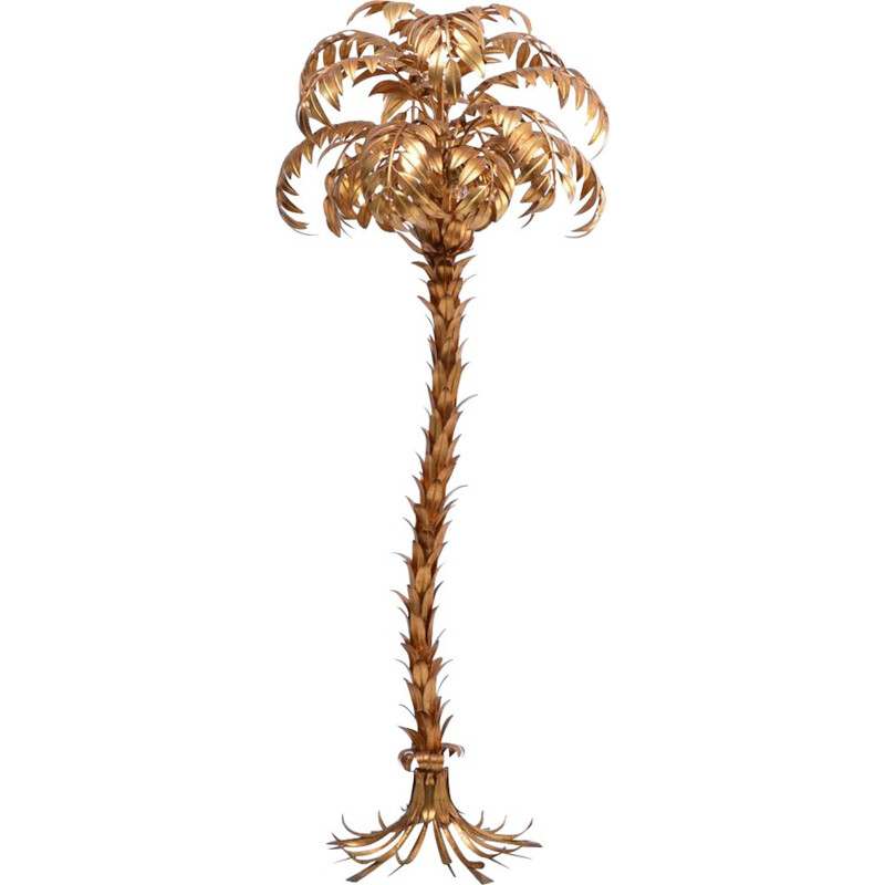 Vintage floor lamp Golden Palm Tree by Hans Kögl 1980s