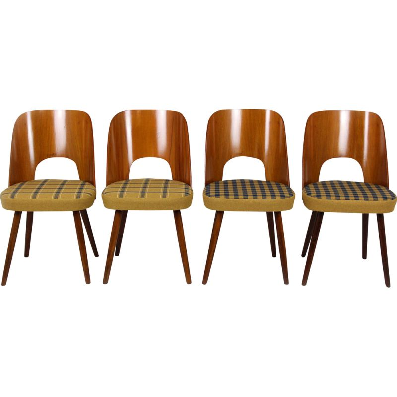 Set of 4 vintage dining chairs by Oswald Haerdtl for Tatra, 1960s