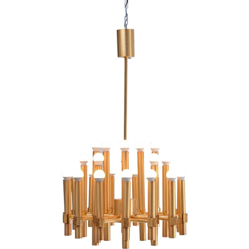 Vintage Chandelier by Angelo Brotto for Esperia Italy 1960s