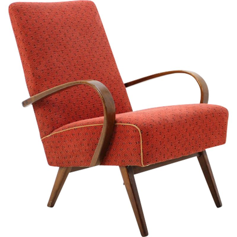 Vintage lounge chair in beech Thonet 1960s