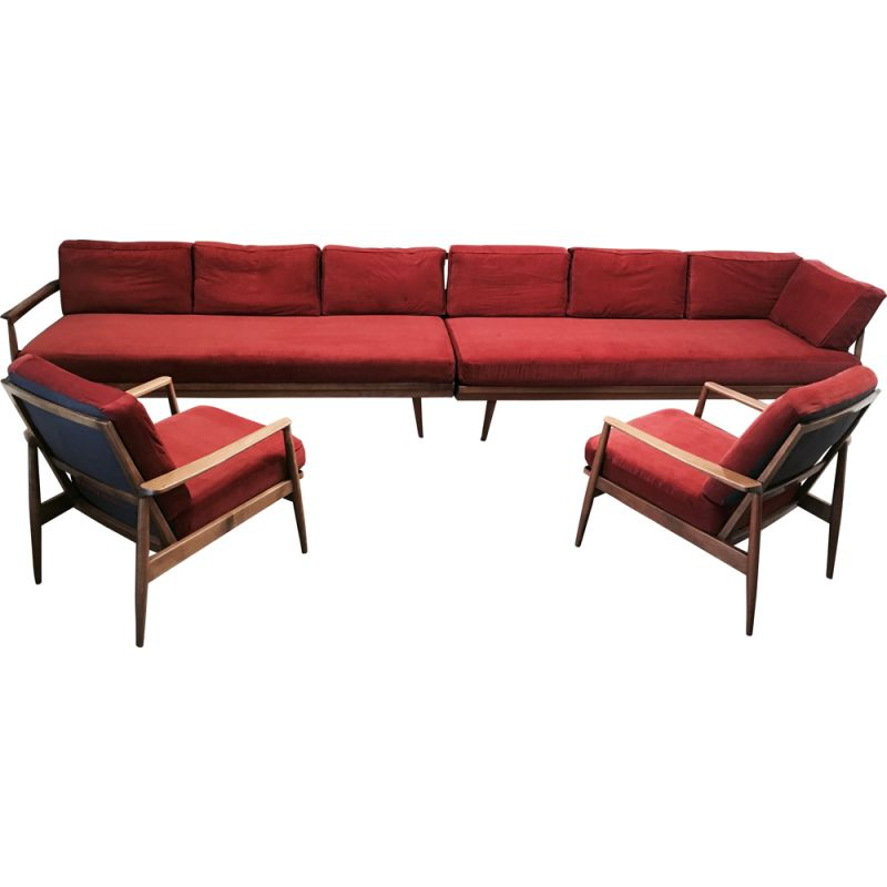 Awesome Vintage Living Room Set Modular 2 Sofas And 2 Armchairs 1950S Uwap Interior Chair Design Uwaporg