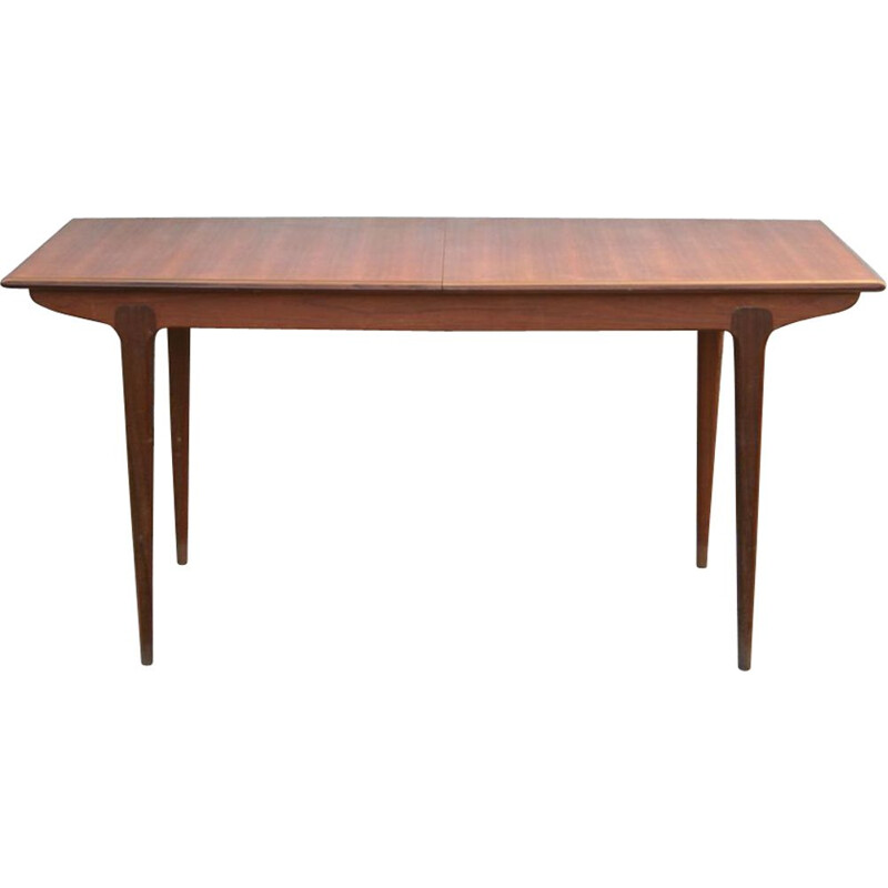 Vintage dining table extendable in teak Scandinavian 1960s