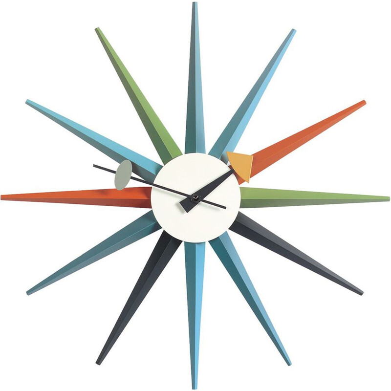 """Wall Clocks - Sunburst Clock"" by George Nelson for VITRA"