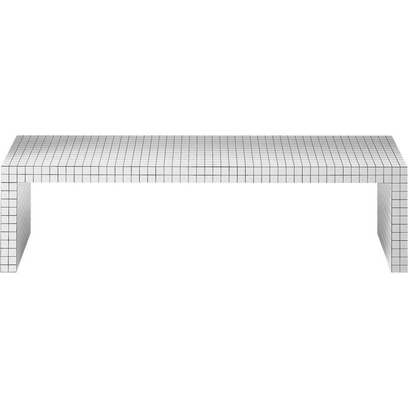 """Quaderna"" bench by Superstudio for ZANOTTA"