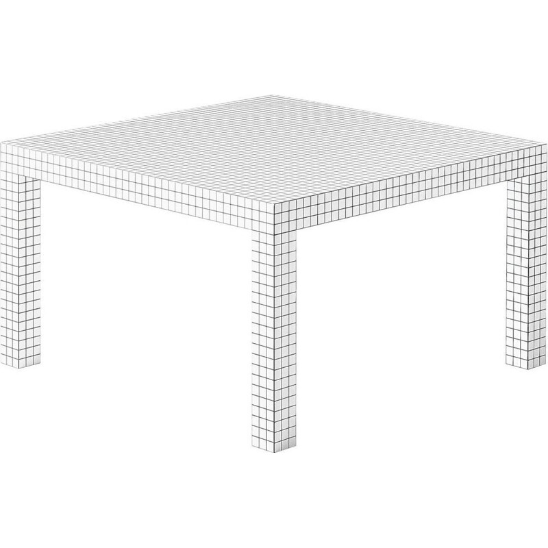 """Quaderna"" dining table by Superstudio for ZANOTTA"