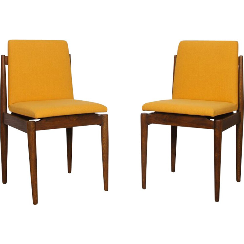 Pair of vintage chairs Czech 1960