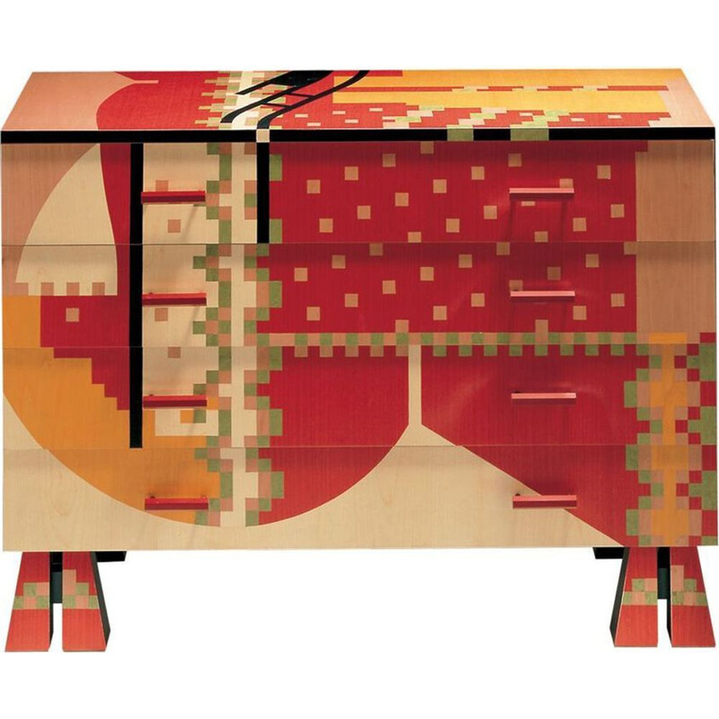 """Calamobio"" chest of drawers by Alessandro Mendini for ZANOTTA"