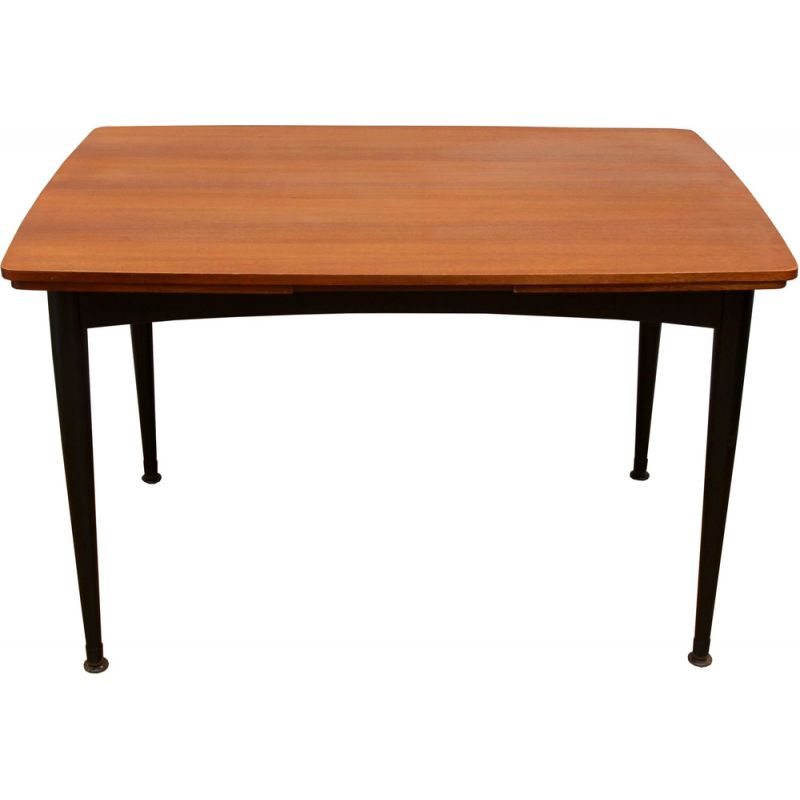 Vintage extensible teak dining table from the 50s
