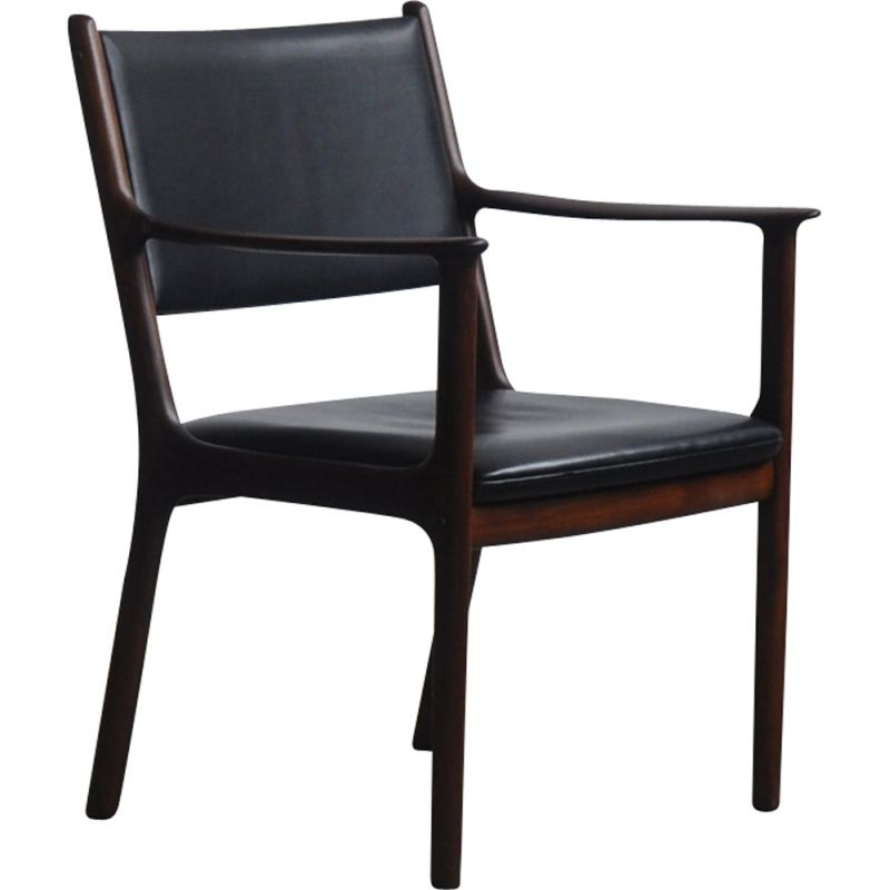 Vintage armchair in mahogany by OLE Wanscher for Poul Jeppesens Møbelfabrik 1960