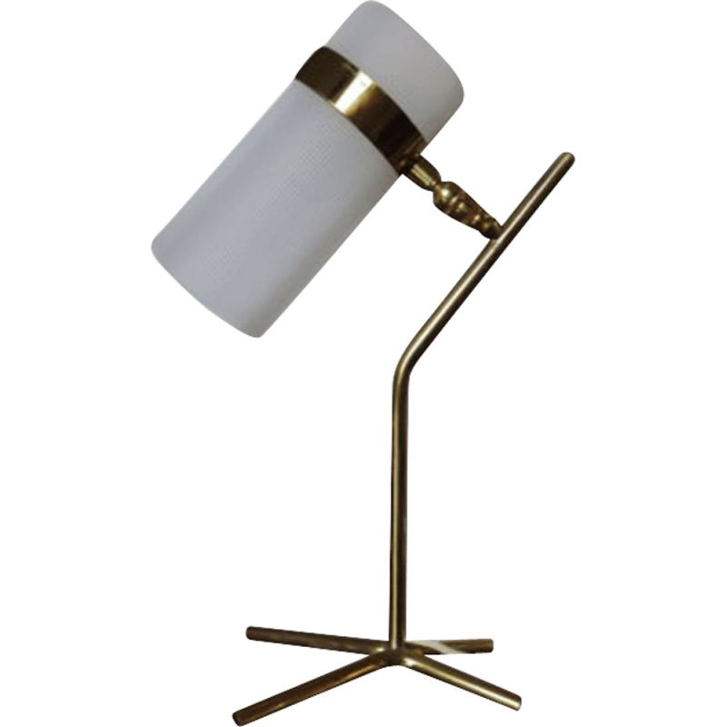Vintage lamp for Caillat in brass and perspex 1950
