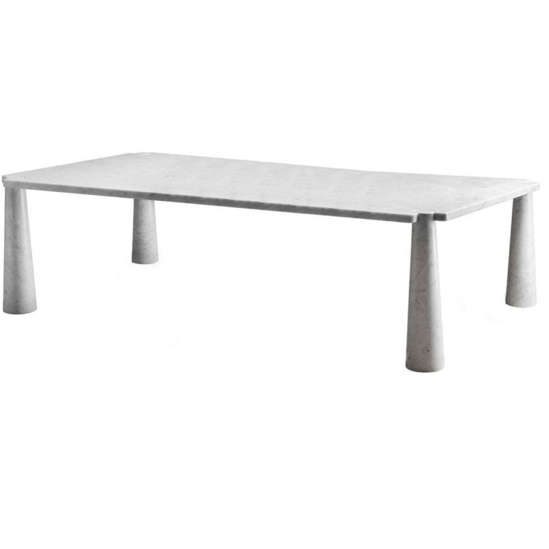 "Dining table AGAPECASA ""Eros"" 240cm in marble, Angelo Mangiarotti"
