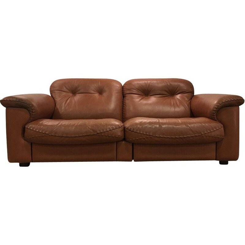 Vintage De Sede DS101 sofa in brown leather