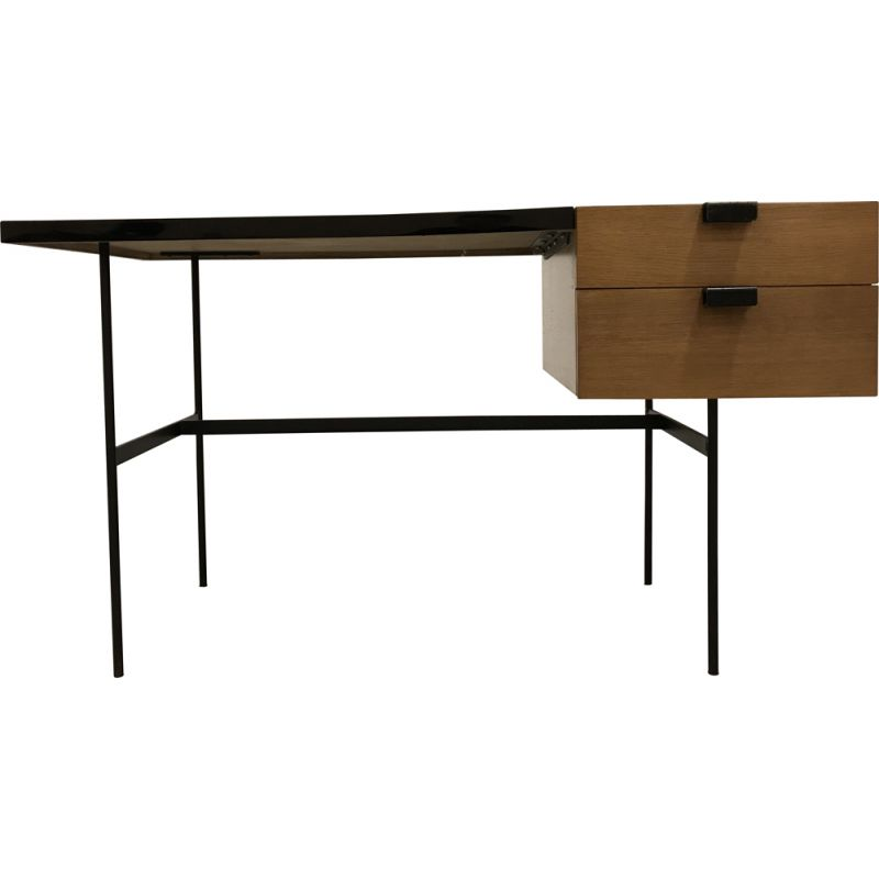 Vintage desk in oak by Pierre Paulin Thônet edition 1954