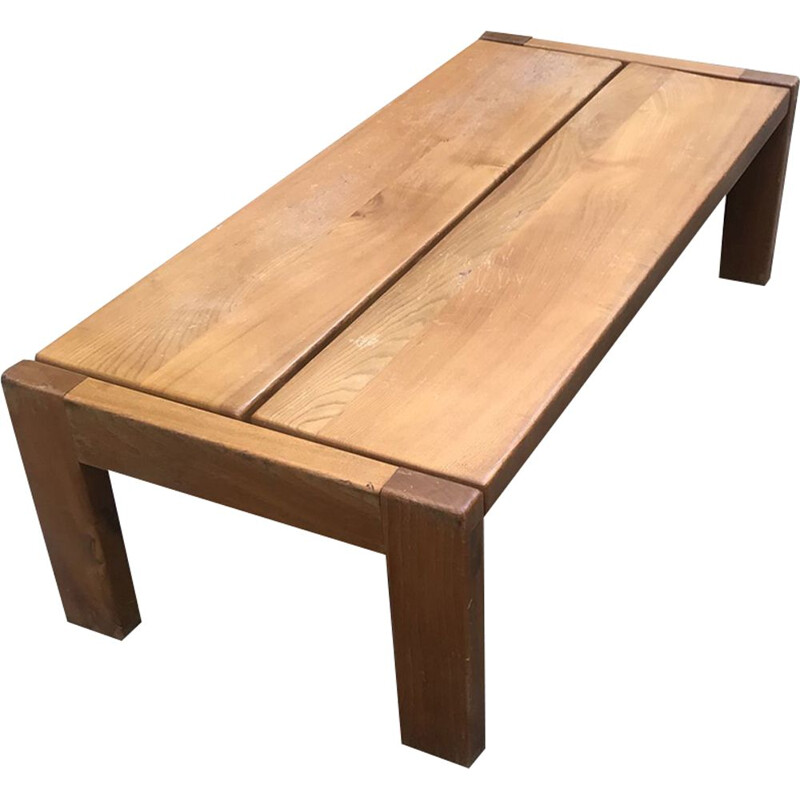 Vintage bench made of solid elm by Regain,1970