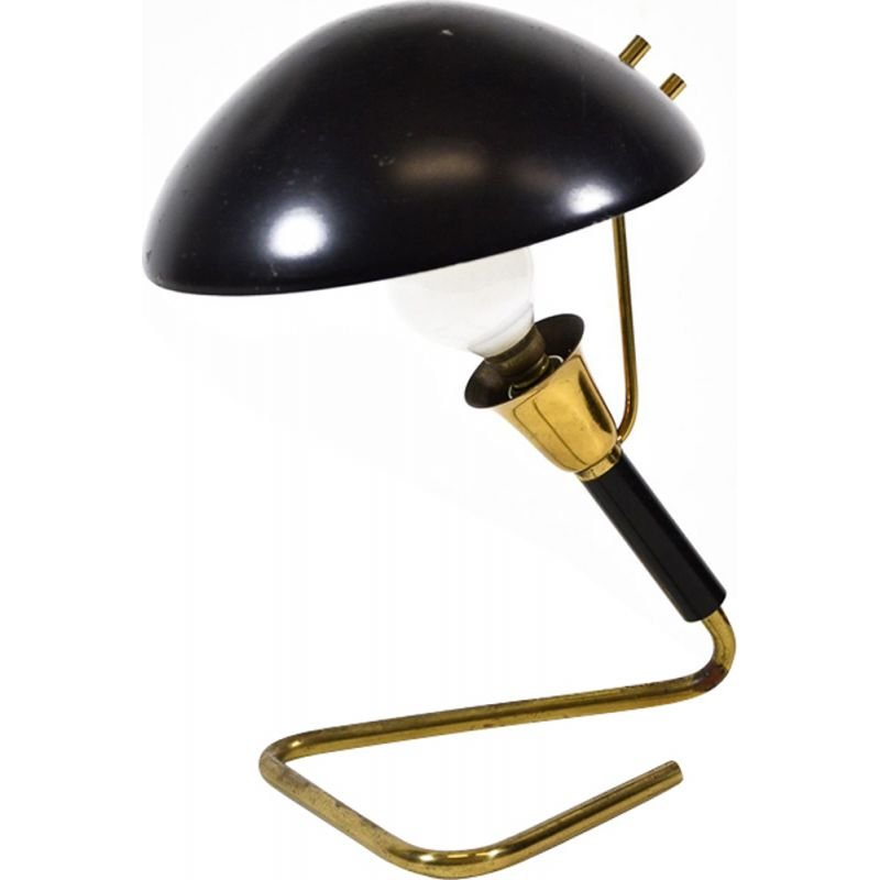 Vintage brass Table Lamp 1950s