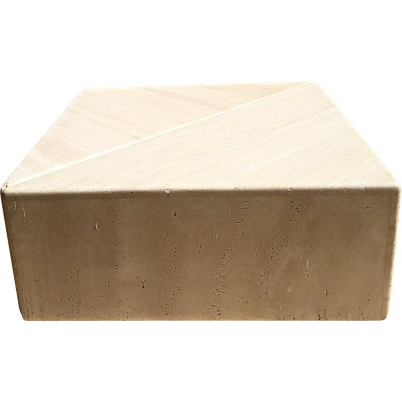 Vintage coffee table in travertine by Roche Bobois 1970s