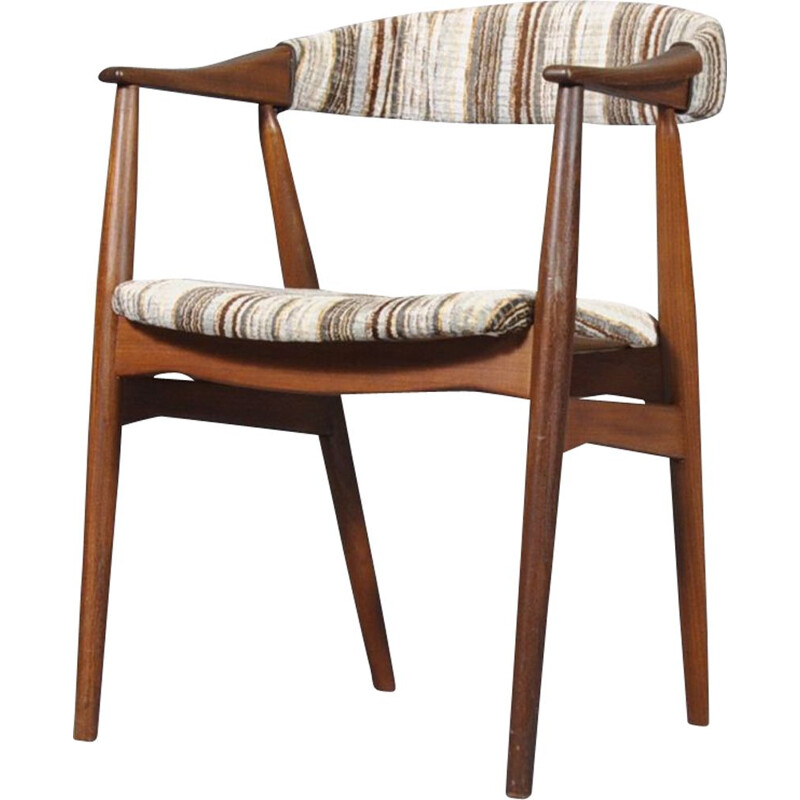 Vintage armchair Model 213 for Farstrup Møbler in teak and fabric 1960