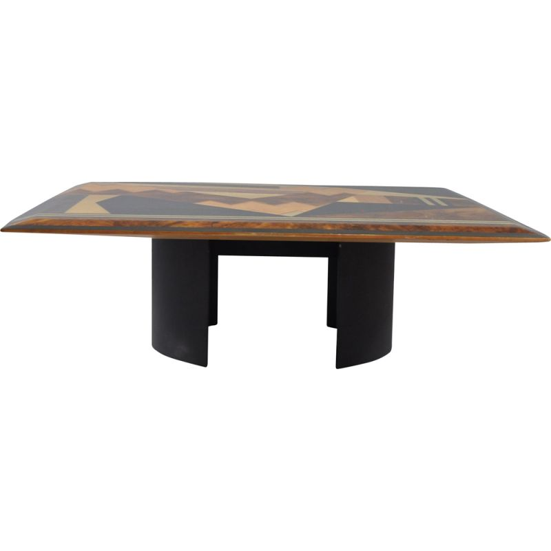 Vintage coffee table Geometric by Giovanni Offredi for Saporiti, Italy 1980s