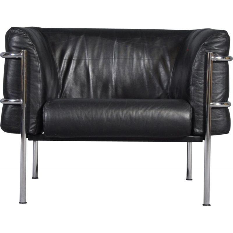 Vintage lounge chair in leather by Kebe, Denmark 1970s