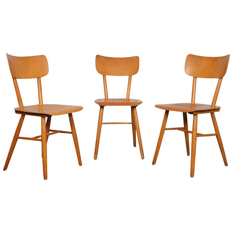 Set of 3 vintage chairs for ton 1960