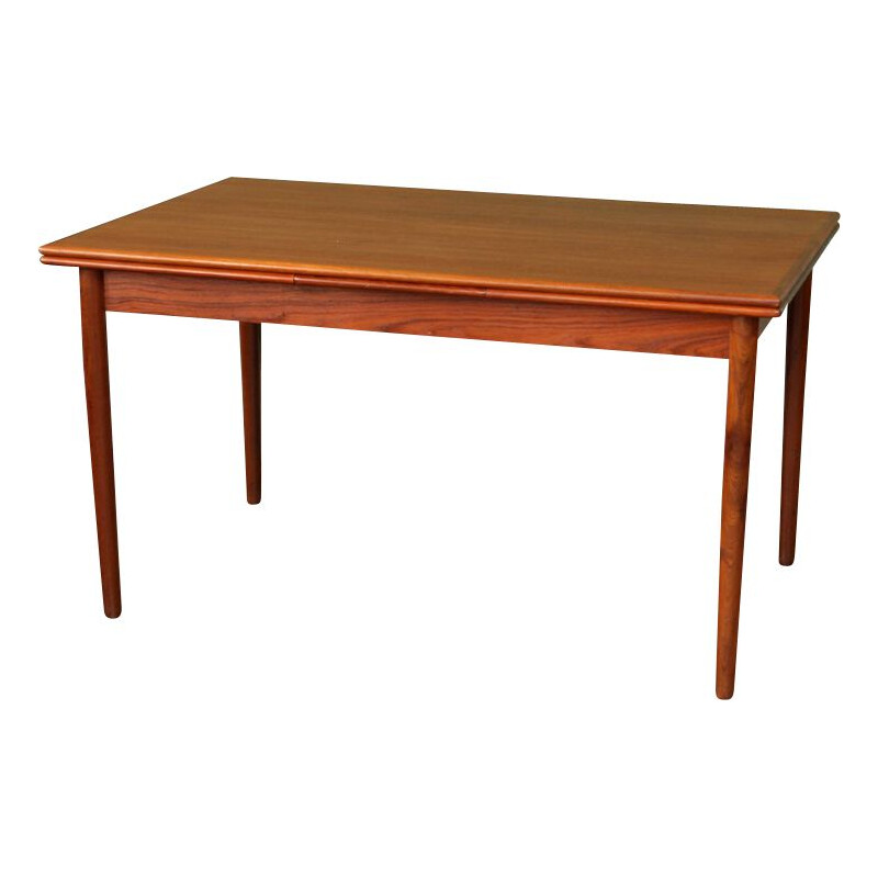 Vintage extendable dining table in teak 1960