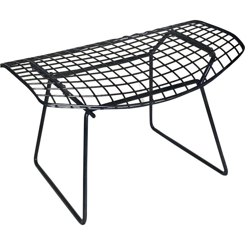Ottoman vintage footstool black by Harry Bertoia
