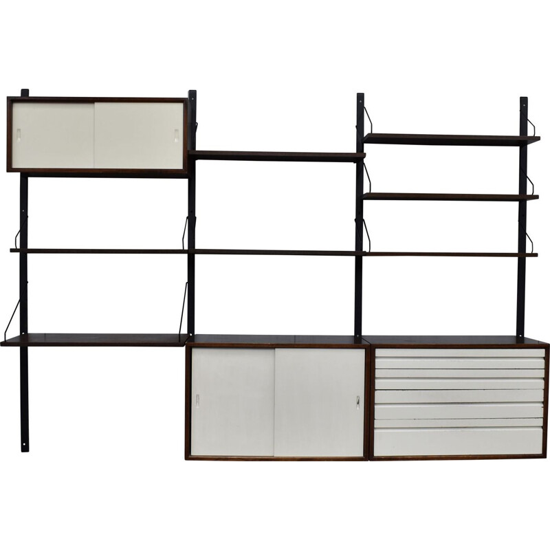 Vintage wall unit Royal in wenge Cadovius Denmark 1960-70s