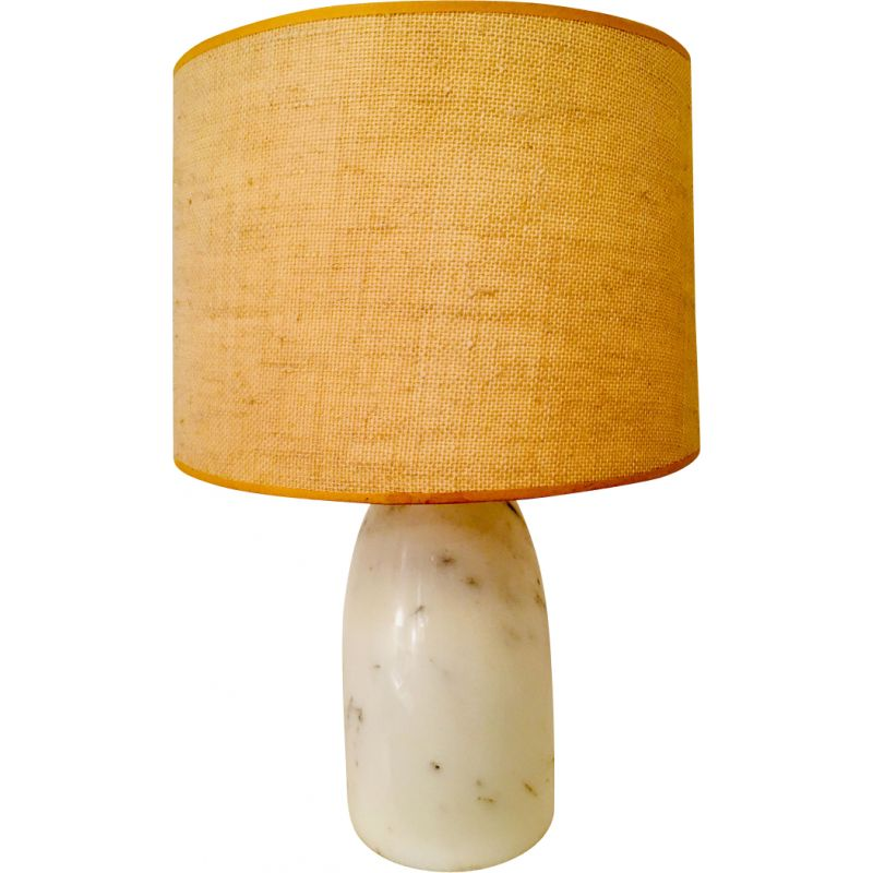 Vintage table lamp in white marble 1960-70s