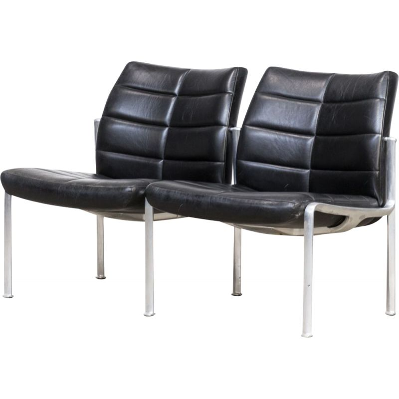 Vintage double seat sofa by Miller Borgsen for Röder Söhne 1960s