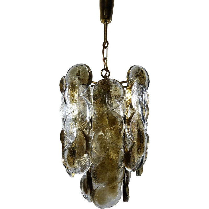 Vintage Citrus chandelier for Kalmar Franken KG in glass and iron 1970