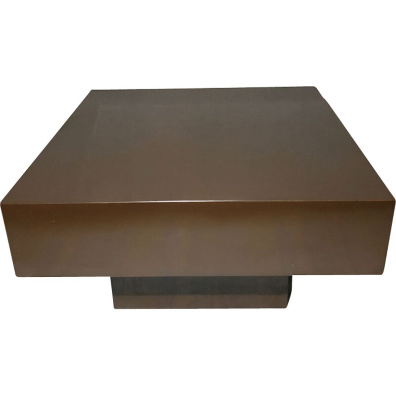 Vintage coffee table in melamine lacquered wood 1970