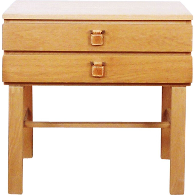 Vintage night stand in beech Swedish 1960