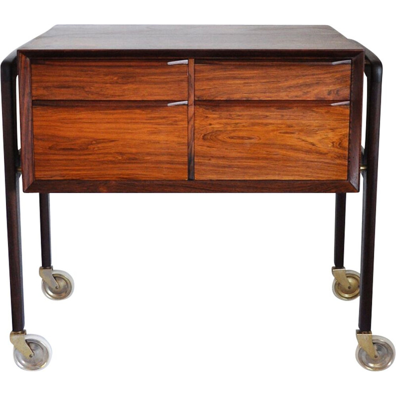 Vintage serving table in rosewood Denmark 1950s