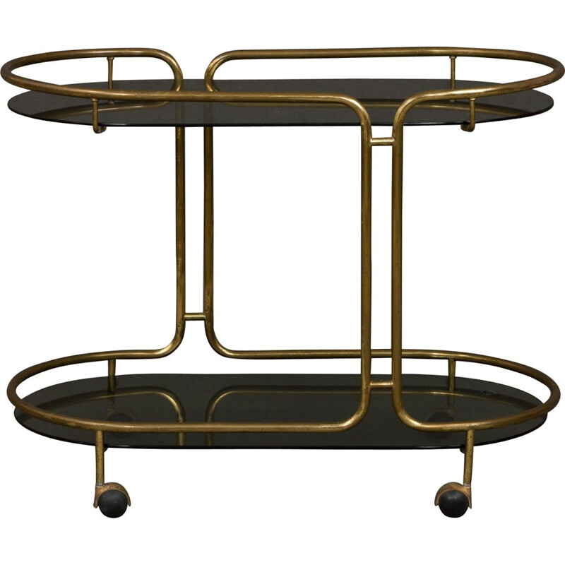 Vintage bar trolley in brass France