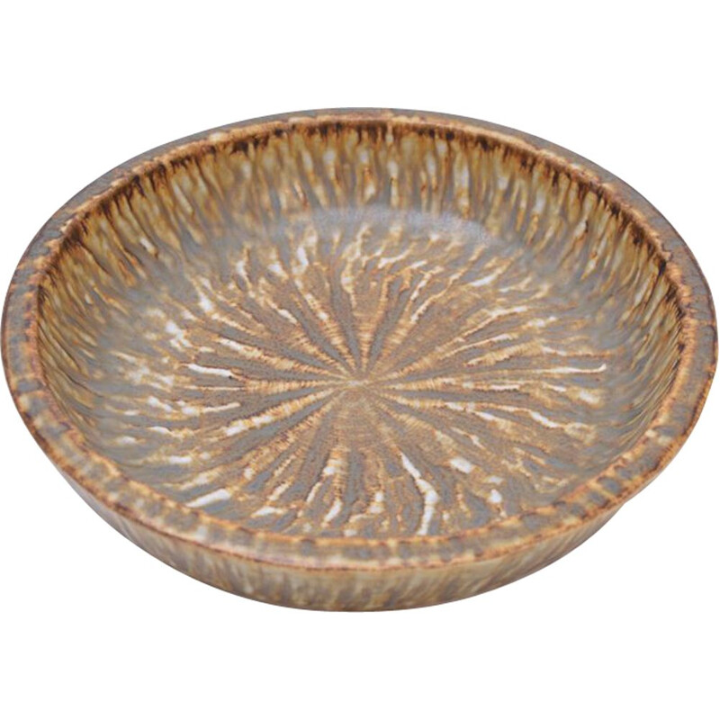 Vintage stoneware bowl by Gunnar Nylund for Rörstrand