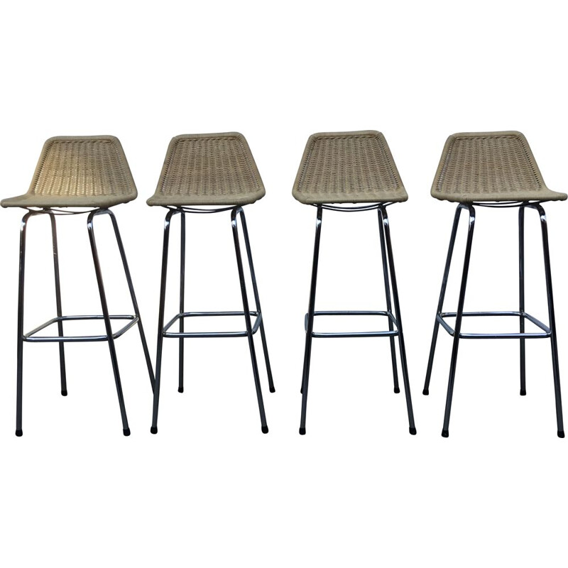 Set of 4 bar stools by Dirk van Sliedregt for Rohe